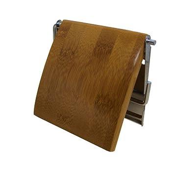 Msv 140396 Porte Rouleau Papier Wc Boisinox Bambou 13 X 12 X 15 Cm