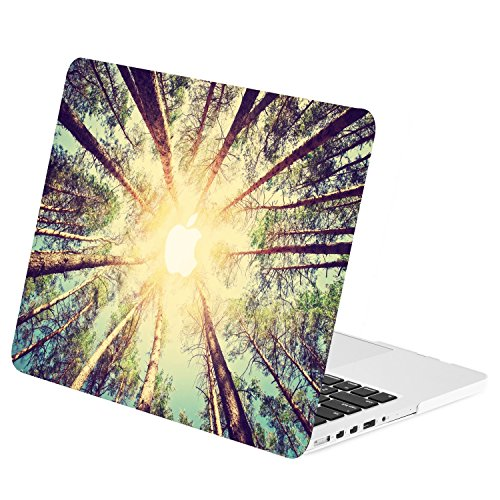 "UPC 693614751088, TOP CASE - Retina 13-Inch Graphic Rubberized Hard Case Cover for Macbook Pro 13"" with Retina Display Model: A1425 / A1502 - Autumn Forest"