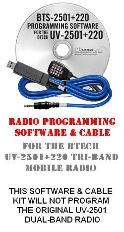 Tri Channel Kit Memory - BTech UV-2501+220 Two-Way Mobile Radio Programming Software & Cable Kit