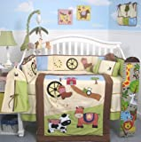 Boutique Baby Boy Framland Ranch Baby Crib Nursery Bedding Set 13 pcs included Diaper Bag with Changing Pad and Bottle Case, Baby & Kids Zone