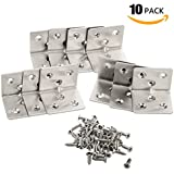 10 Packs L Bracket 38mm x30mm x1.3mm(Thick) Corner Braces,YMAISS Stainless Steel Joint Right Angle Shelf Support Bracket with Screws