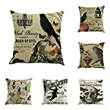 YOcheerful Halloween 11PC Home Car Bed Sofa Decorative Pillow Case Cushion Cover (E,45 45cm)