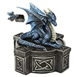Blue Mystic Dragon Statue Celtic Box
