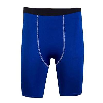 Vska Mens Pro Compression Capri Leggings Cool Dry Baselayer Running Basketball Tights Short