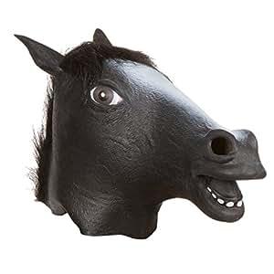 Allures & Illusions Giant Animal Horse Head Mask, Black