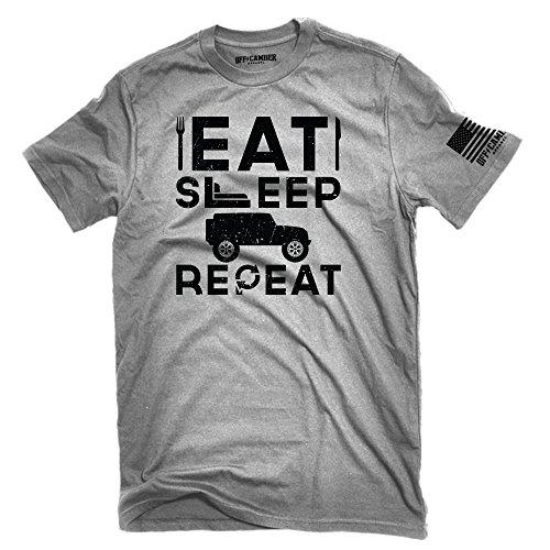 Eat Sleep Jeep Shirt Off-Road 4x4 T-Shirt Made in USA (Medium) ()