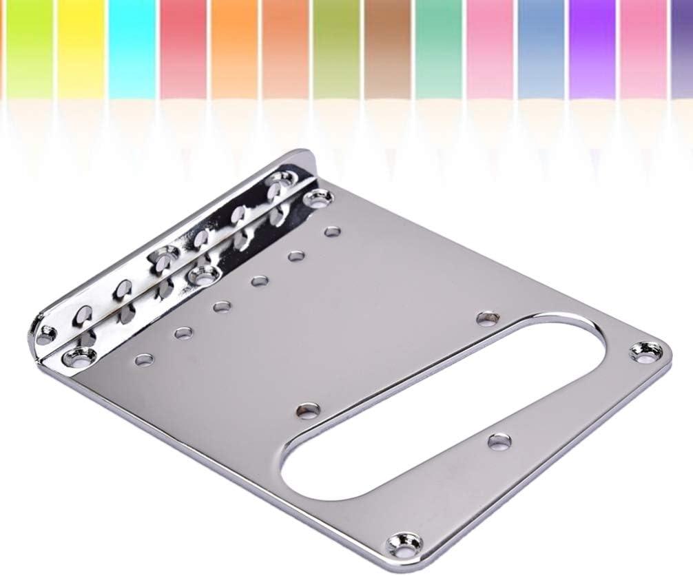 Healifty placa de puente de guitarra del cargador superior para fender telecaster tl guitarra eléctrica pickup repuestos accesorios (plata) 98x80x11mm: Amazon.es: Instrumentos musicales