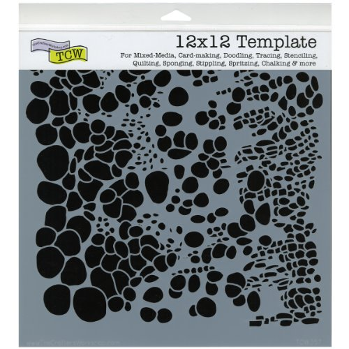 (CRAFTERS WORKSHOP TCW-357 Template, 12 by 12-Inch, Cell Theory)