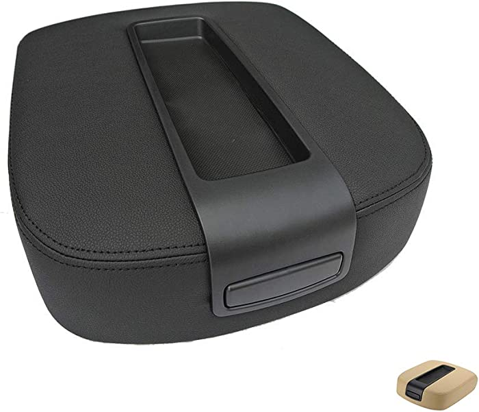 NHILES Center Console lid Arm Rest Cover Replacement for 2007-2014 Chevy Chevrolet Silverado,Tahoe,Suburban,Avalanche,GMC Sierra,Yukon,Yukon XL Armrest Center Console-OE:15217111 15941534