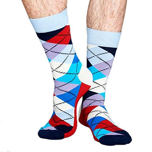 Happy Socks White Argyle Socks