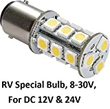 1076 led bulb for rv - Gold Stars 10760090 Natural White LED Replacement Bulb (1076 Base 200 Lums 12v or 24v)