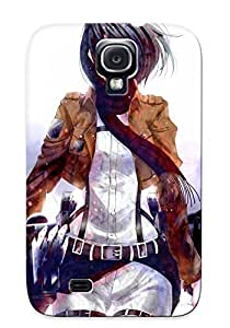 Eatcooment Series Skin Case Cover Ikey Case For Galaxy S4(mikasa Ackerman Attack On Titan)