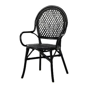 Ordinaire Ikea Black Rattan Fiber Chair 1826.11142.638
