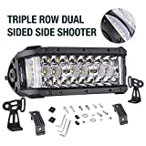 cool accessories for trucks - LED Light Bar, Offroad Town 7.5'' 68W Side Shooter LED Pods Off Road Driving Light Spot Flood Combo Fog Lights Waterproof OSRAM Work light Bar LED Cubes for Truck Jeep Motorcycle Pickup Boat