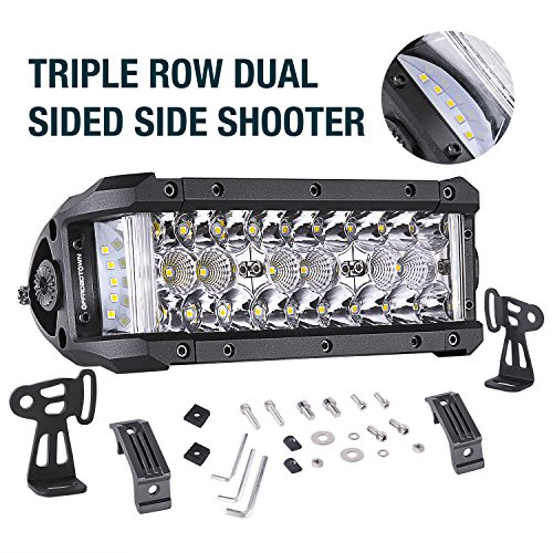 LED Light Bar, OFFROADTOWN 7.5 68W Side Shooter LED Pods Off Road Driving Light Spot Flood Combo Fog Lights Waterproof OSRAM Work light Bar LED Cubes for Truck Jeep Motorcycle Pickup Boat