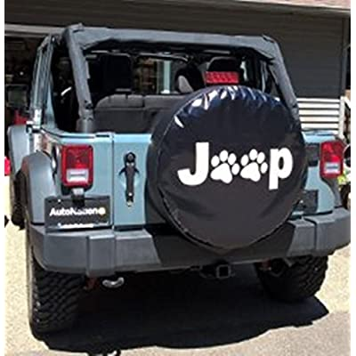 Dee-Type Paws Spare Wheel Tire Cover R17: Clothing