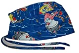 Onebasispoint Scrub Hat Cartoon Characters Cotton Fabric Nurse Cap Doctor Do-Rag Skull