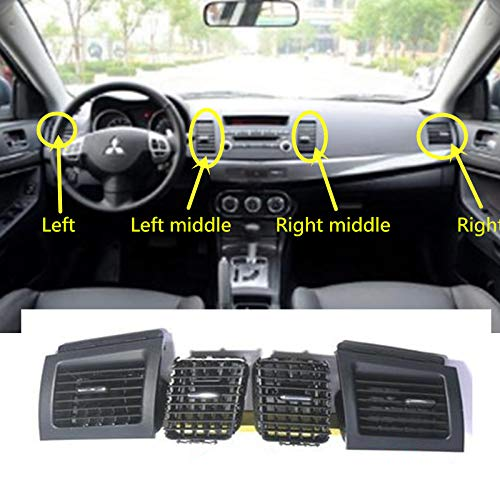 Fastener & Clip - Salida de aire acondicionado para salpicadero de coche para Mitsubishi Lancer EX 2010-2015, Left