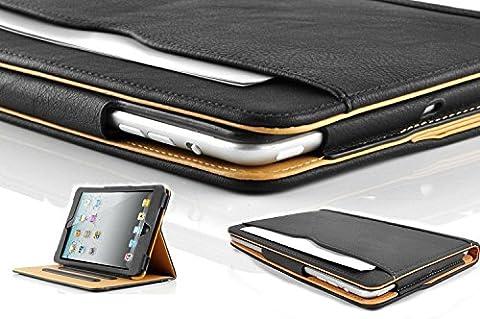 S-Tech Soft Leather Sleep/Wake Flip Case for Apple iPad 2, 3, and 4th Generation (Original Ipad 4 Case)
