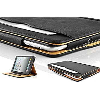 New S-Tech Apple iPad 2 3 4 Generation Soft Leather Wallet Smart Cover with Sleep / Wake Feature Flip Case