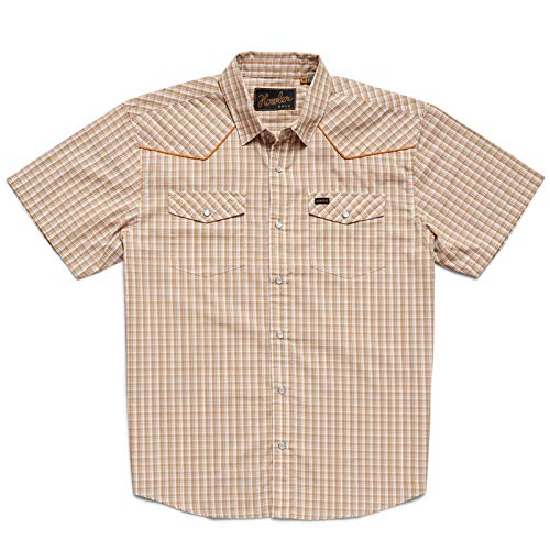 Howler Brothers H Bar B Snapshirt - Garland Plaid: Beige - Large