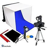 LimoStudio Photography Photo Video Studio Lighting Kit Set Photo Studio Light Box, 2 x High Output Lights, 4 x Chromakey Backgrounds, 1 x 41 Camera Tripod, LMS778