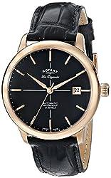 Rotary Men's gs90061/04 Analog Display Swiss Automatic Black Watch