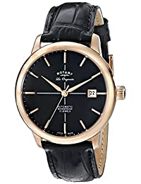 Rotary Men's gs90061/04 Analog Display Swiss Automatic Black Watch