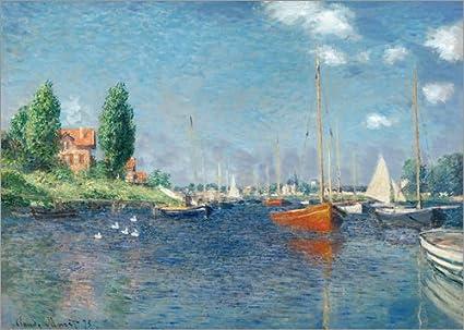 Posterlounge Alu Dibond 40 x 30 cm: Argenteuil di Claude Monet