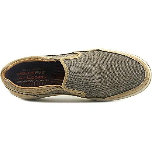 Skechers Mens Classic Fit Proter - Maglia Vesco Light Brown / Pelle Scamosciata