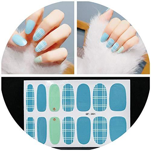 Nail Wraps Stickers Patch Foils Glitter Nail Stickers Patch Polish Manicure Nail Decorations 3D Art Decal,1 set QF-324 (Versace Kaufen)