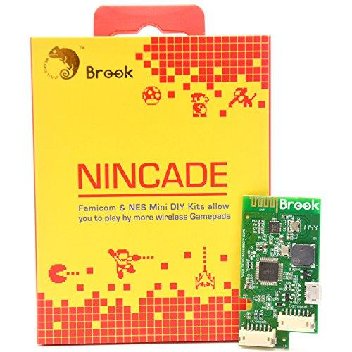 CtrlDepot Brook NINCADE Board Wireless Controller PCBA DIY Kit for Classic Mini NES/SNES Mini/Super Famicom Mini Play Compatible with Wii/PS4/Switch Pro/8Bitdo