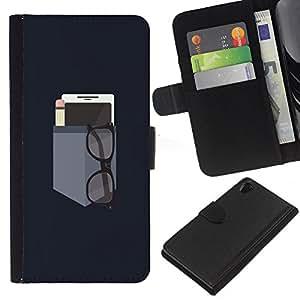 For Sony Xperia Z2 D6502 Case , Phone Engineer Teacher Minimalist - la tarjeta de Crédito Slots PU Funda de cuero Monedero caso cubierta de piel