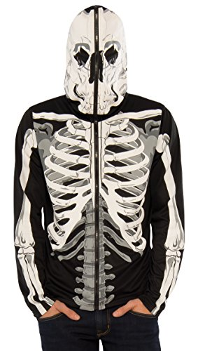 Rubie's Men's Skeleton Costume Hoodie, Multi, Small
