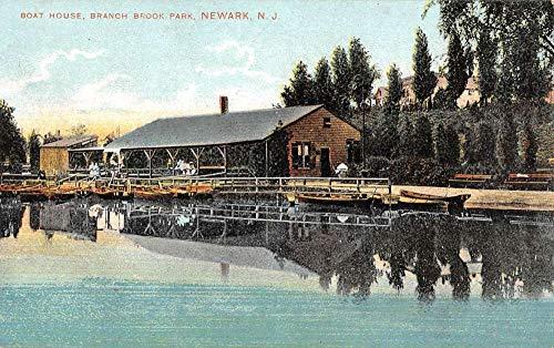 Newark New Jersey Branch Brook Park Boat House Antique Postcard K100031