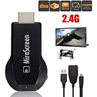 ANDROSET 2.4G Miracast Wifi Display HD 1080P HDMI AirPlay DLNA TV Dongle Stick Receiver