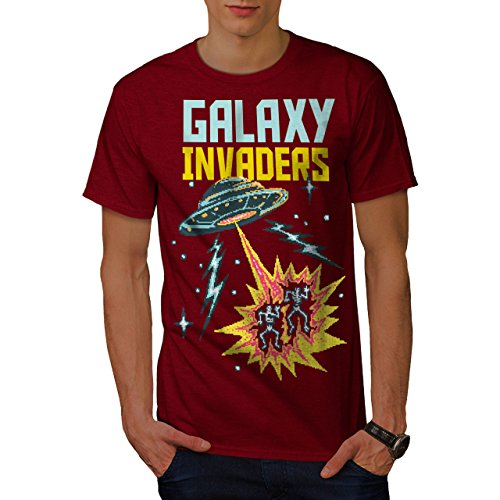 Galaxy Invaders Mens Retro Gaming T-Shirt - 5 colors - S to 5XL
