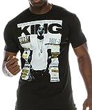 FLEA ALLEY Mens Vintage Hip HOP Printed T-Shirts Jay-Z King (Large, TM064)