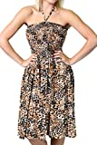 One-size-fits-most Tube Dress/Coverup with Animal Print - Leopard
