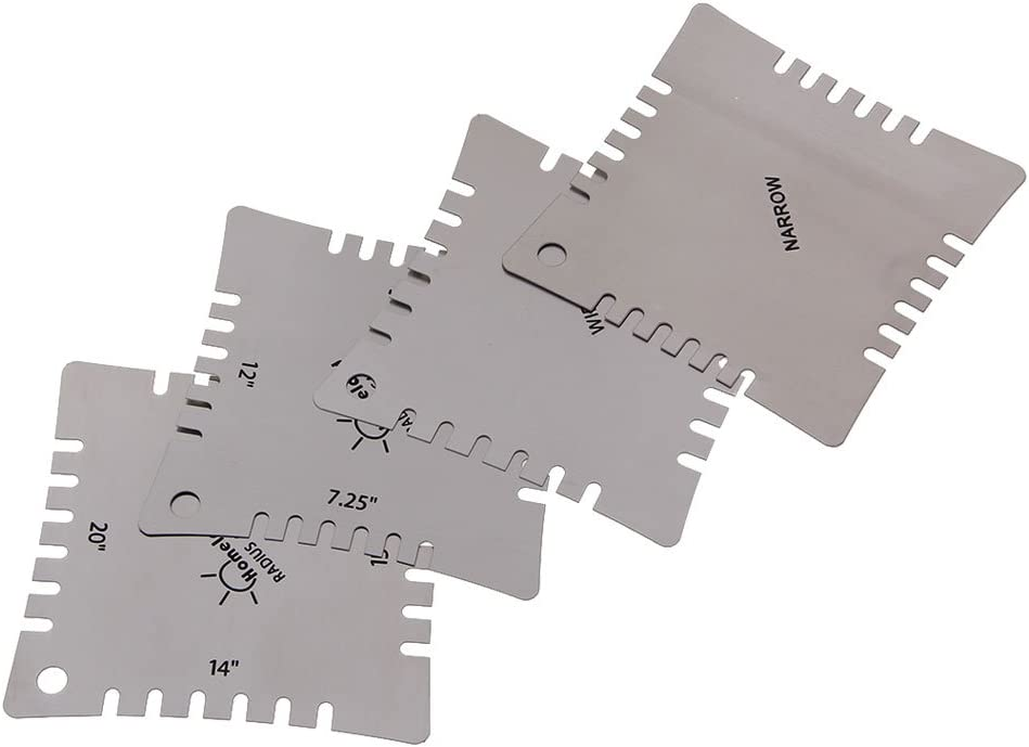 4xGuitar Notched Radius Gauges for Measuring Fingerboard and Nut Saddle Radius
