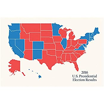 Amazoncom  US Presidential Electoral College Map Poster  X - Picture of a us presidential electoral map
