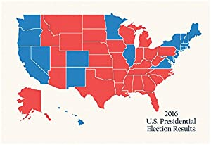 Amazon.com: 2016 US Presidential Electoral College Map Poster 19 x ...