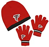 Atlanta Falcons NFL Little Boys Knit Hat and Gloves Set - Red (Kids 4-7)