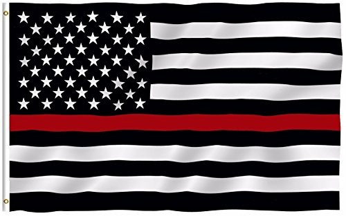 - ALBATROS Thin RED LINE Flag FIREMENS Lives Matter Fireman Firewoman Support Banner for Home and Parades, Official Party, All Weather Indoors Outdoors