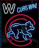 Desung New 24''x20'' Sports CB Team Win Walking Club Neon Sign Man Cave Signs Sports Bar Pub Beer Neon Lights Lamp Glass Neon Light DX46