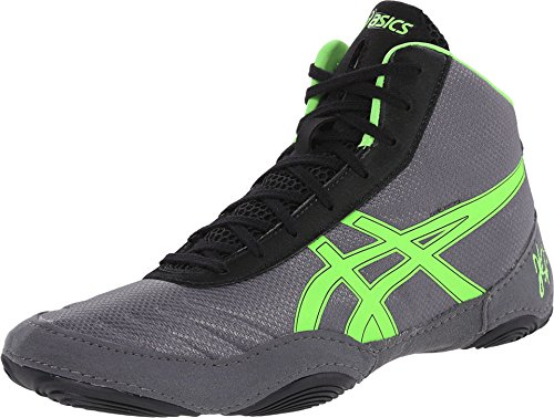 Asics Men's JB Elite V2.0 Wrestling Shoe - Granite/Green ...