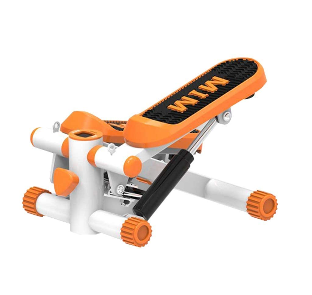 ZYY Pedal Steppers Trainer, Stepped Bandwidth Anti-Skid Pedal, Resistance Band and LCD Monitor (Color : Orange)