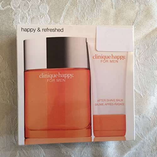 Clinique Happy for Him Two (2) Piece Gift Set - Clinique Happy for Him Cologne Spray 3.4 Oz + Clinique Happy for Him After Shave Balm 1.7 Oz