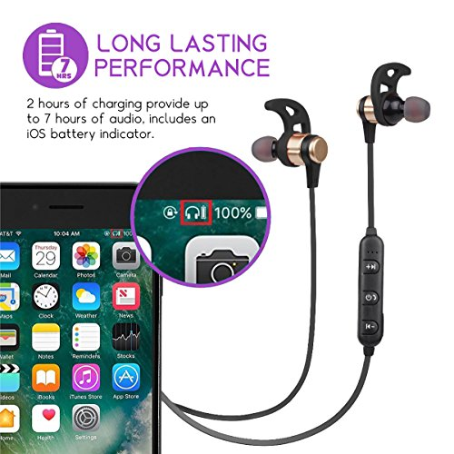 Woozik N860 In-Ear Wireless Earbuds, Bluetooth 4 2 with Built in  Microphone, Volume Control and 7 Hour Battery Life