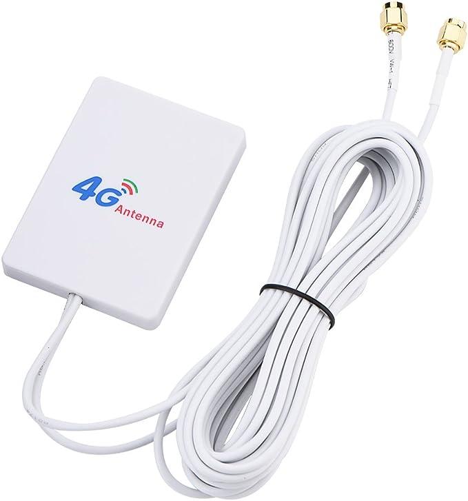 Antena de enrutador móvil 4G/3G LTE, Antena amplificadora de señal de Alta Ganancia de 28dbi TS-9/SMA/CRC9 Puerto Externo para Huawei E398/E3276/E392 ...